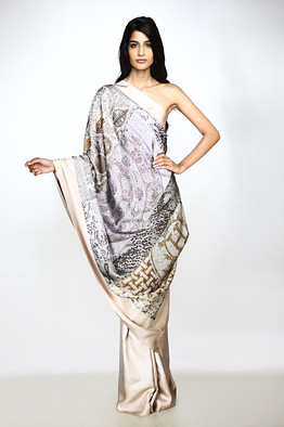"Hermès ""Patch"" sari"
