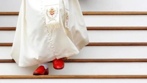 Pope Benedict with red shoes